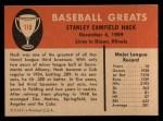 1961 Fleer #110  Stan Hack  Back Thumbnail