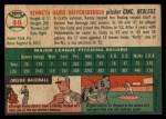 1954 Topps #46 WHT Ken Raffensberger  Back Thumbnail