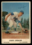 1962 Bell Brand Dodgers #20  Daryl Spencer  Front Thumbnail