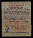 1949 Bowman #237  Monte Kennedy  Back Thumbnail