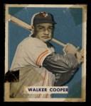 1949 Bowman #117  Walker Cooper  Front Thumbnail
