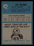 1964 Philadelphia #46  Lee Folkins  Back Thumbnail