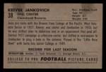1952 Bowman Small #38  Keever Jankovich  Back Thumbnail