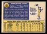 1970 Topps #363  Tom Shopay  Back Thumbnail