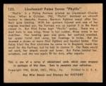 1941 Gum Inc. War Gum #123   Lieutenant Paine Saves Phyllis Back Thumbnail