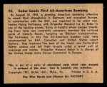 1941 Gum Inc. War Gum #94   Eaker Leads First All-American Bombing Back Thumbnail