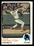 1973 Topps #214  Dave Hamilton  Front Thumbnail
