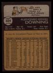 1973 Topps #324  Al Downing  Back Thumbnail