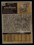 1971 Topps #48  Al Atkinson  Back Thumbnail