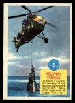 1963 Topps Astronaut Popsicle #5   Recovery Training Front Thumbnail