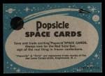 1963 Topps Astronaut Popsicle #37   Rest day for Glenn Back Thumbnail