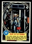 1963 Topps Astronaut Popsicle #40   Inside the test chamber Front Thumbnail