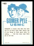 1965 Fleer Gomer Pyle #63   I'll Kill Him 1001 I'll Kill Him Back Thumbnail