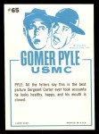 1965 Fleer Gomer Pyle #65   Gomer Pyle and Friend Back Thumbnail