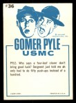 1965 Fleer Gomer Pyle #36   Cousin Icabod Never Found Back Thumbnail