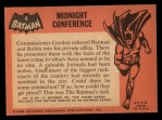 1966 Topps Batman Black Bat #4   Midnight Conference Back Thumbnail