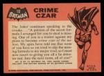 1966 Topps Batman Black Bat #10   Crime Czar Back Thumbnail