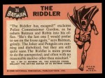 1966 Topps Batman Black Bat #36   The Riddler Back Thumbnail