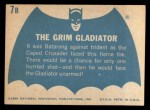 1966 Topps Batman Blue Bat Back #7   The Grim Gladiator Back Thumbnail