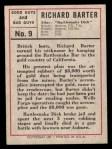 1966 Leaf Good Guys Bad Guys #9  Rattlesnake Dick  Back Thumbnail