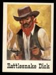 1966 Leaf Good Guys Bad Guys #9  Rattlesnake Dick  Front Thumbnail