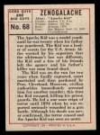 1966 Leaf Good Guys Bad Guys #68  Apache Kid  Back Thumbnail