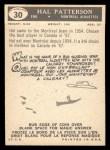 1959 Topps CFL #30  Hal Patterson  Back Thumbnail
