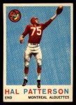 1959 Topps CFL #30  Hal Patterson  Front Thumbnail
