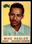 1959 Topps CFL #86  Mike Hagler  Front Thumbnail