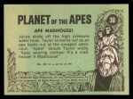 1969 Topps Planet of the Apes #30   Ape Madhouse Back Thumbnail