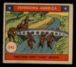 1941 W.S. Corp Defending America #242   Erecting New Tank Bridge Front Thumbnail