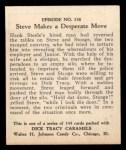 1931 Johnson Candy Dick Tracy R41 #138   Steve Makes Desperate Move Back Thumbnail