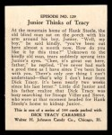 1931 Johnson Candy Dick Tracy R41 #129   Junior Thinks of Tracy Back Thumbnail
