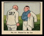 1931 Johnson Candy Dick Tracy R41 #121   Hunted by the Law Front Thumbnail