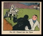 1931 Johnson Candy Dick Tracy R41 #123   Chased Into the Open Front Thumbnail