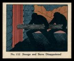 1931 Johnson Candy Dick Tracy R41 #132   Stooge and Steve Disappointed Front Thumbnail