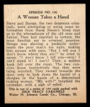 1931 Johnson Candy Dick Tracy R41 #136   Woman Takes Hand Back Thumbnail