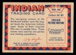 1959 Fleer Indian #48   Sea-going Canoe Back Thumbnail
