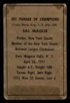 1952 Berk Ross  Sal Maglie  Back Thumbnail