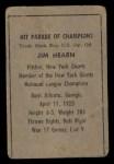1952 Berk Ross  Jim Hearn  Back Thumbnail
