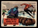 1957 Topps Isolation Booth #50   Most Barrels an Ice Skater Ever Leaped Front Thumbnail