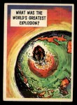 1957 Topps Isolation Booth #76   World's Greatest Explosion Front Thumbnail
