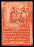 1957 Topps Isolation Booth #72   Longest Name in the World Back Thumbnail