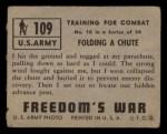 1950 Topps Freedoms War #109   Folding Chute  Back Thumbnail