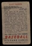 1951 Bowman #244  Cliff Fannin  Back Thumbnail