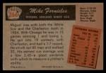 1955 Bowman #266  Mike Fornieles  Back Thumbnail
