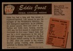 1955 Bowman #263  Eddie Joost  Back Thumbnail