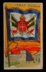 1911 Flags of All Nations T59 #71 JAC  Italy Royal Standard Front Thumbnail