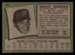 1971 Topps #392  Grant Jackson  Back Thumbnail