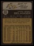 1973 Topps #253  Mark Belanger  Back Thumbnail